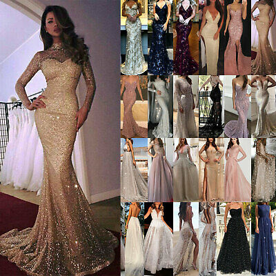 Women Formal Gown Wedding Bridesmaid Evening Party Prom Cocktail Dress Stylish