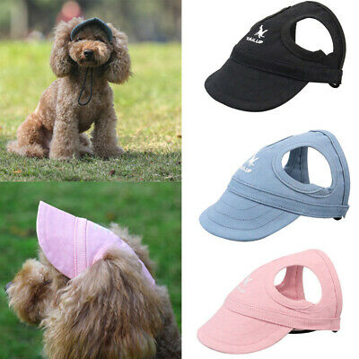Puppy Pet Dog Baseball Sun Hat Cap With Ear Holes for Small Large Dogs S/M/L/XL