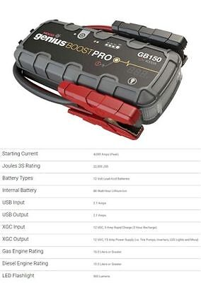 Noco GB150 Starter Battery of Start Jump Starter Booster (Torch and USB)