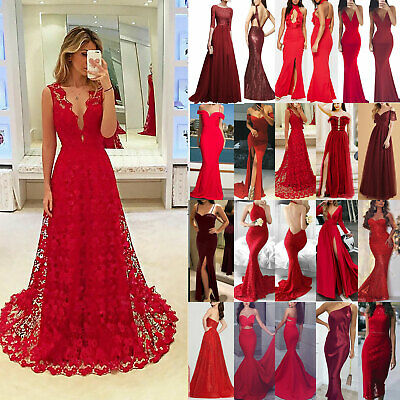 Womens Bridesmaid Prom Ball Gown Formal Evening Party Slim Ladies Cocktail Dress