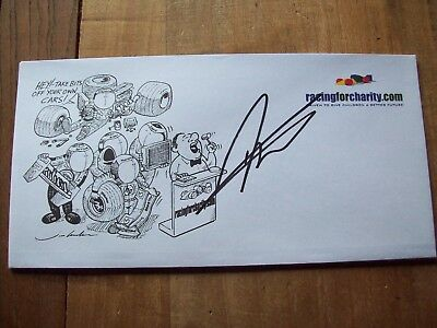 A Racingforcharity Envelope Signed By Darren Turner