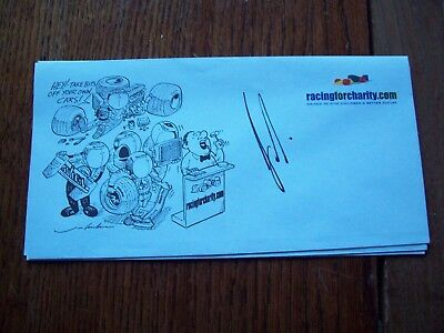 A Racingforcharity Envelope Signed By Gerhard Berger