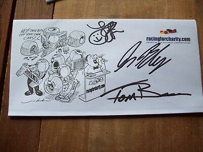 A Racingforcharity Envelope Signed By Alan Blencowe And Tom Boardman