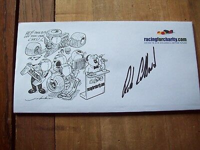 A Racingforcharity Envelope Signed By Rob Collard
