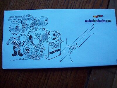 A Racingforcharity Envelope Signed By Gil De Ferran