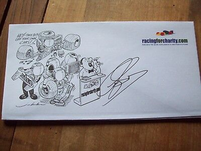 A Racingforcharity Envelope Signed By Guy Smith