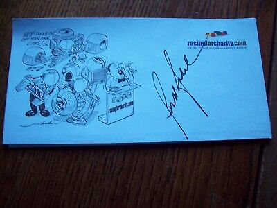 A Racingforcharity Envelope Signed By Bobby Rahal