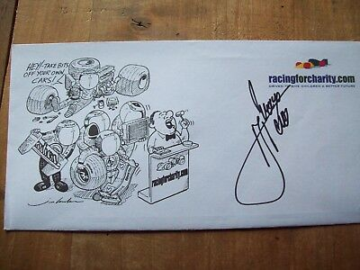 A Racingforcharity Envelope Signed By Rene Arnoux