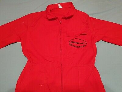 Rare Red Snap-On Overalls/Boiler Suit. Size S, 100cm. Free Postage.