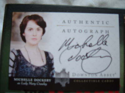 Downton Abbey Michelle Dockery Lady Mary Crawley Autograph Card A7