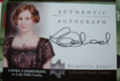 Downton Abbey Laura Carmichael Edith Crawley Autograph Card A2