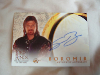 Lord of the Rings FOTR Sean Bean Boromir Autograph Card