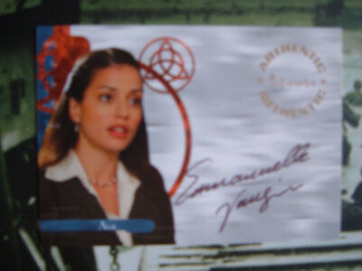 Charmed Emanuelle Vaugier Autograph Card A15 as Ava