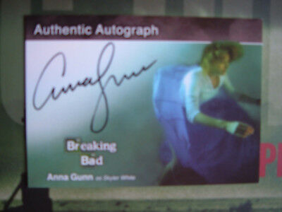 Breaking Bad Anna Gunn Autograph Card A21 as Skyler White