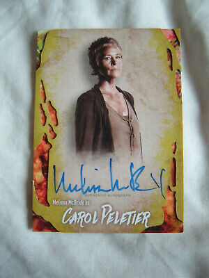 Walking Dead Survival Melissa McBride Carol Autograph card 42/99