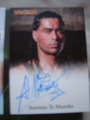 Spartacus Antonio Te Maioha Autograph Card as Barca Blood and Sand