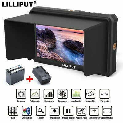 """Lilliput A5 5"""" IPS Full HD 4K HDMI Monitor + Battery For HDMI out DSLR Camera"""