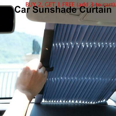 Car Retractable Windshield Sun Shade Folding Auto Block Cover Rear Window New