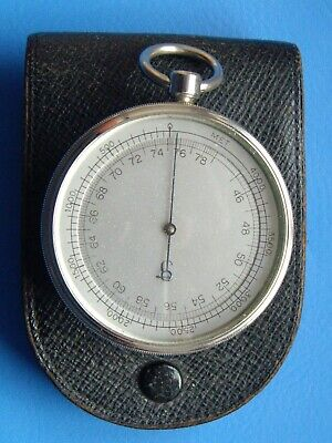 """2"""" Lufft Aneroid Pocket Barometer & Altimeter : In Full Working Condition"""