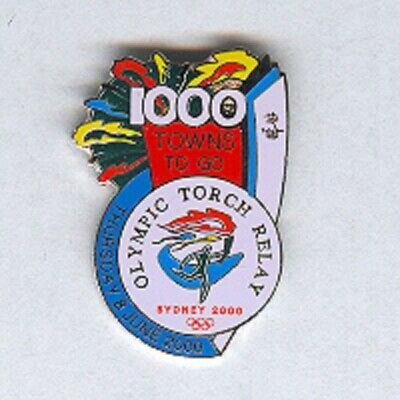Sydney 2000 - Torch Relay 1000 Towns To Go Olympic Pin [R-177]