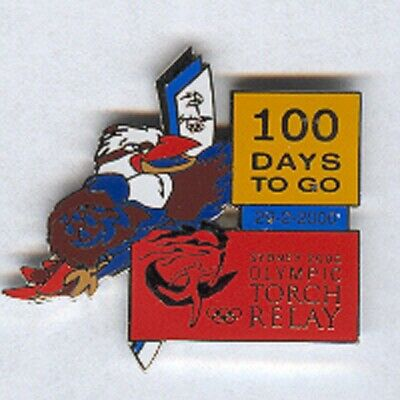Sydney 2000 - Torch Relay 100 Days To Go Olympic Pin [R-211]