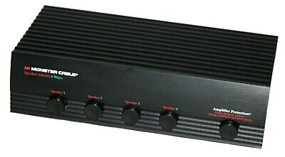 Monster Cable Speaker Selector 4 Way Switch Amplifier Protection A++ Condition