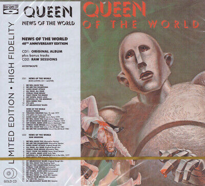 QUEEN - News Of The World Blu-spec Gold 2CD NEW + RAW Sessions / Freddie Mercury