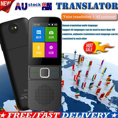 Smart Voice Translator Two-Way Real Time Multi-Language Portable Touch Screen AU