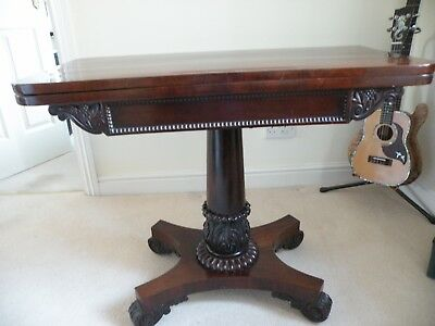 Antique William Iv Rosewood Card/Console Table