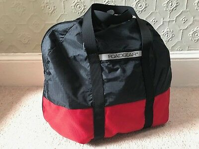Roadgear Ultimate Helmet Bag Motorcycle Soft Lining Ub311 Red Black Made In Usa