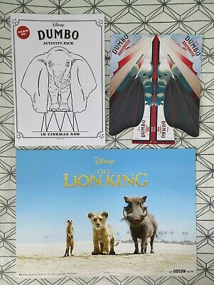 Disney The Lion King ODEON A3 Poster: 2019 Movie + FREE DUMBO BOOK & PLANE