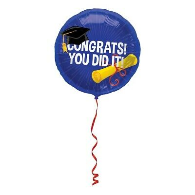 Foil Balloon You DID It Congrats! End Uni Helium Balloon 45 CM