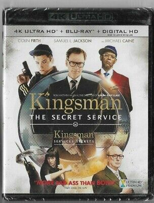 New Sealed 4K Ultra HD + Blu-Ray - KINGSMAN THE SECRET SERVICE  Also French