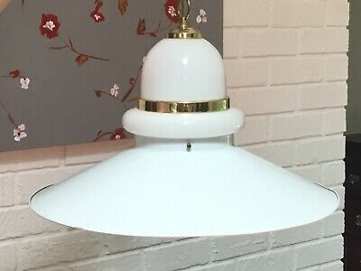 MCM Danish Style White UFO Flying Saucer Light