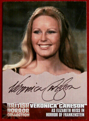 BRITISH HORROR, Horror Of Frankenstein - VERONICA CARLSON - AUTOGRAPH CARD - VC1