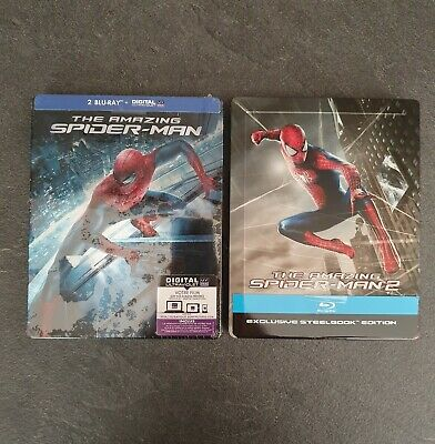 Collector Lot Amazing Spider-Man 1 et 2 Édition SteelBook blu-ray
