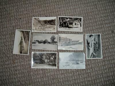 8 VINTAGE OLDER PICTURE POSTCARDS CIRCA LATE 1940s-1950s TRAVEL BLACK & WHITE