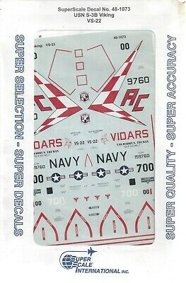 SuperScale 1//72 decals S-3B Viking VS-22 CAG #72-893
