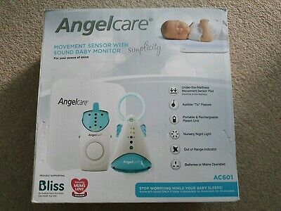 Angelcare Simplicity AC601 BABY MONITOR Breathing Movement Sound SENSOR PAD VFC