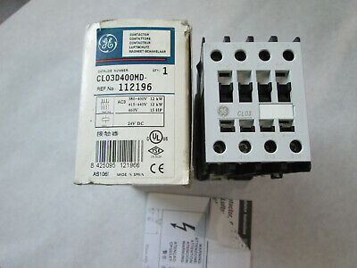 New GE CL03D400MD Contactor With 24 VDC Coil (45 Amp)