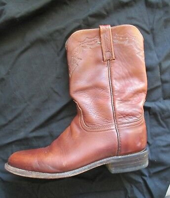 29ba7ca5615 SHEPLERS MENS BLACK Leather Cowboy Western Boots Oil Resistant USA 8 ...