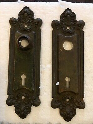 Classic Pr Of Antique Victorian Style Door Faceplates For Your Home To Restore