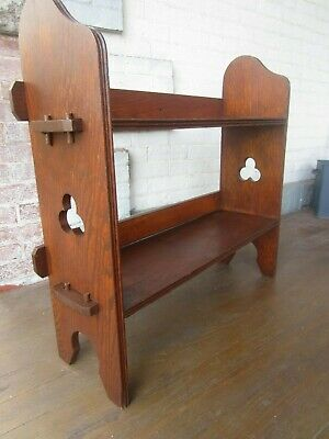 Mission Oak Book Case Shelf Antique Arts & Crafts - 2 tiers- Nice
