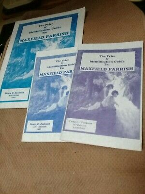 Maxfield Parrish Price Guide SIGNED BY AUTHOR Denis C. Jackson - Lot of 3