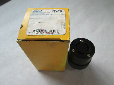 New Hubbell HBL7555 Female Connector Body  (10A/250V or 15A/125V)