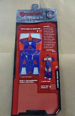TRANSFORMERS TARGET GIFT CARD optimus prime LIMITED EDITION new giftcard movie