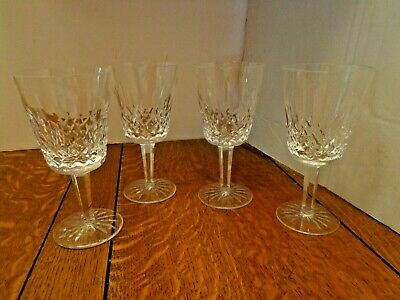 4 - Waterford Crystal Lismore 8 Ounce Water Stem Goblet