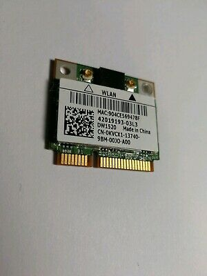 DELL WIRELESS 1520 PCIE WLAN CARD 802.11N WINDOWS XP DRIVER DOWNLOAD