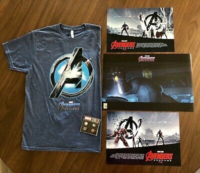 SDCC 2019 MARVEL AVENGERS ENDGAME T-Shirt & Poster Exclusives + Bonus Pin/Poster