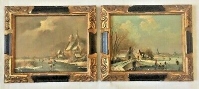 A Pair Of Xx Century Dutch Fine Paintings By C.keller.